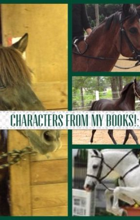 Characters from my books! by katered7books