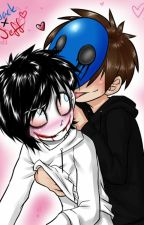 Jeff The Killer x Eyeless Jack by gfhjbfgsduhbgfshijbg
