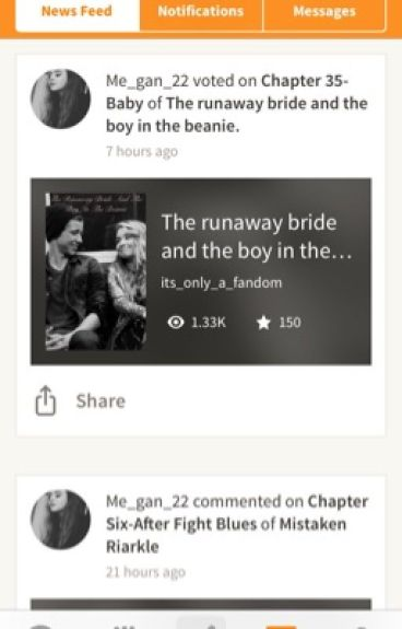 The runaway bride and the boy in the beanie.