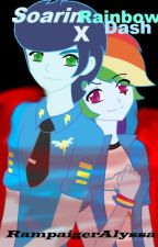 Soarin X Rainbow Dash by -RampaigerAlyssa-