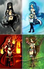The Four Students-With Their Elements by WinterPisces207