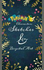 Pokémon Characters | Sketches & Digital Art by -shree09-