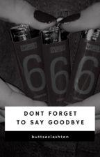 Don't Forget to Say Goodbye // Lashton by buttsexlashton