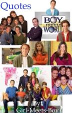 Girl and Boy Meets World Quotes by Lay-we-a