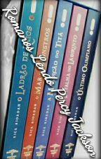 Romanos Lendo Percy Jackson  by Beatriz_Potter_Black