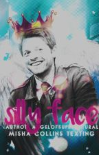 Silly Face [Misha Collins Texting]/[hanging] by AngelofSupernatural