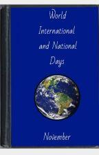 November World,International and National days. by stripey