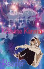 Kozume Kenma x Reader [A Week's Diary Entry] by Kunaiwa