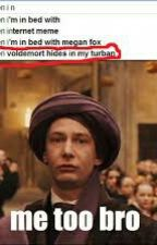 funny Harry Potter memes by justbeyourselfie