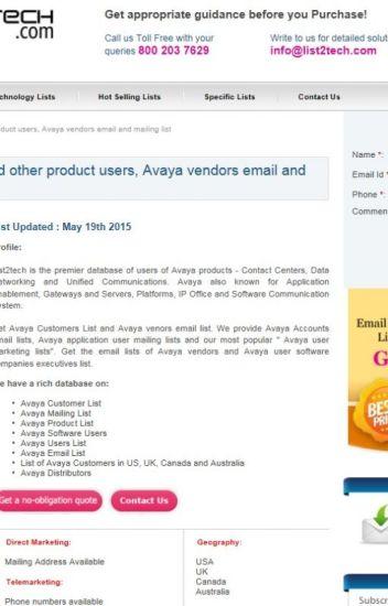 List of Avaya Decision Makers in USA - listtechnology - Wattpad