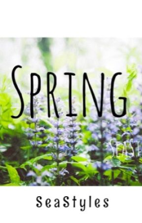 Spring by sun-drenched