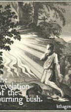 the revelation of the burning bush. by kthaphantom