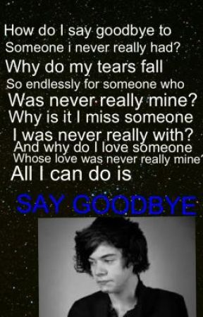Saying Goodbye Harrys Letter Wattpad