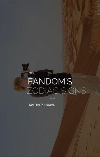 Fandom's Zodiac Signs