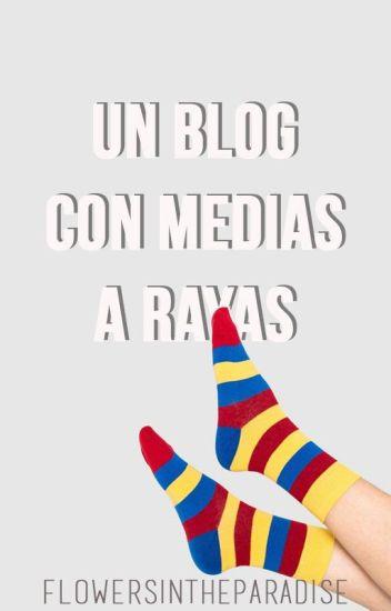 Un blog con medias a rayas.