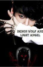 Demon Wolf and Light Angel by louna84