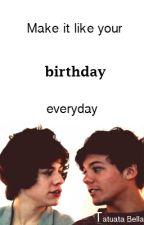 Make it like your birthday everyday by IreneDobori