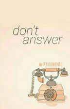 Don't answer ➳ChenMin by whatxiuwants