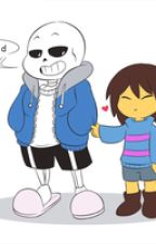 Untitled frisk x sans by snowstormthefox