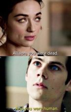 Allison and Stiles back to back. by TeenWolfStilesOBrien