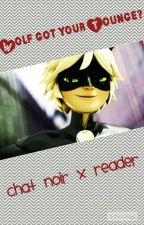 Chat Noir x OCC Wolf got your Tounge?  by Silverpaws99