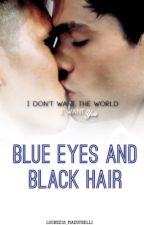 Blue eyes and black hair by Lucrezia_reeds
