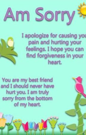 I'm Sorry (Poem) - I'm Sorry - Wattpad