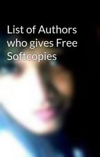 List of Authors who gives Free Softcopies by tjpotz