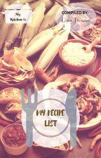 My Recipe List (Book #1) by umm_hanoon