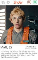 Star Wars Tinder x reader (Kylo Ren) SNL parody. by starcasters