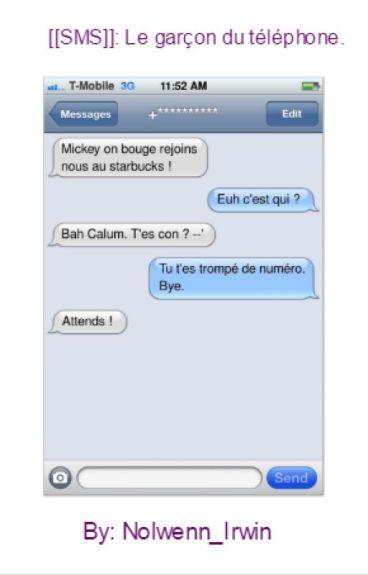 [[SMS]]: Le garçon du téléphone. [[FINI]]