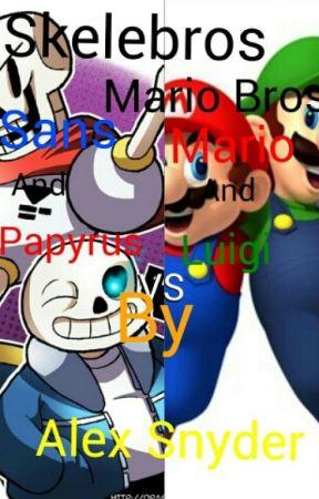 Sans And Papyrus VS Mario And Luigi Rap Battle - Skelebros