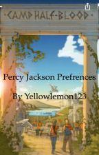 Percy Jackson Preferences by yellowlemon123