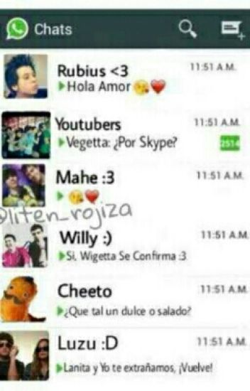 Whatssap De Youtubers Y Tu {Pausada}