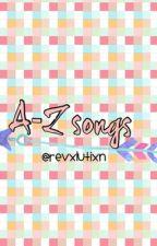 a-z songs by freakinSUNFLOWERS