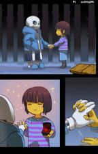 Sans X Frisk Undertale by GreenDay62400