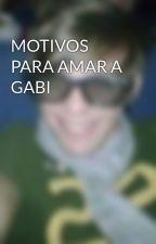 MOTIVOS PARA AMAR A GABI by YourHoran_Diva