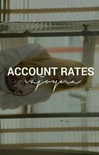 account rates //CLOSED FOR CU// by minstrual