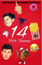 14 ~For Teens~ by LetsGoToTheBitch666