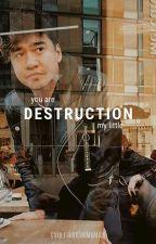 Destruction; cake by JustCallMeAlice