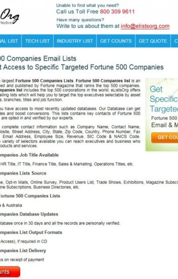 Fortune 500 Companies Email List - elistsorg - Wattpad