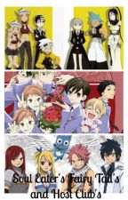 Soul Eater's Fairy Tail's and Host Club's by Anime_4_life5