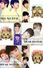 See No Evil, Hear No Evil, Speak No Evil (Myungyeol, Woogyu, and Yadong) by Myungyeol-Is-Life