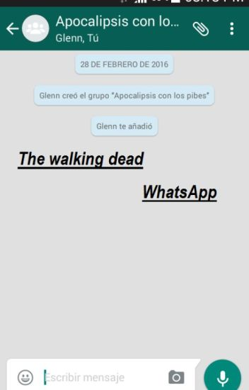 The walking dead WhatsApp