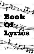 Book of Lyric by Missvampire1999