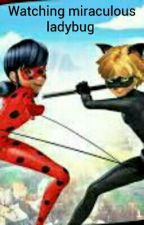 Watching miraculous ladybug by Shadow_Midnight