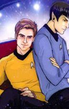 Kirk x Spock by BubblegumBanshee