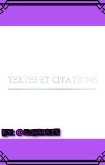 Textes & Citations