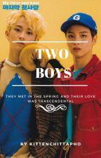 two boys ✿*゚namjoon + seokjin by kittenchittapho
