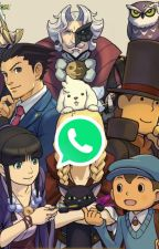Profesor Layton + Ace Attorney WHATSAPP by LourdKai